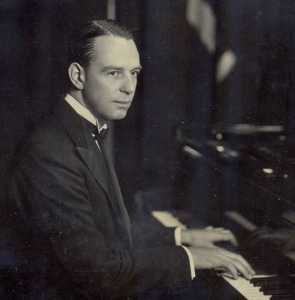 Cecil Norman at the piano