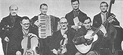 Lionel Falkman (centre) and his Apache Band